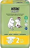 Pañales ecológicos Muumi Baby para recién nacidos, talla 2, 3-6 KG, 58 pañales...