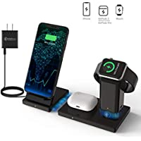 Pal&Sam 3 in 1 Wireless Charging Station for Apple Watch, AirPods Pro, iPhone 11 Pro 11 XR X and Samsung