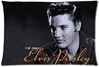 Bedroom Decor Custom Elvis Presley Pillowcase 20x30 two sides Zippered Rectangle PillowCases Throw Pillow Covers