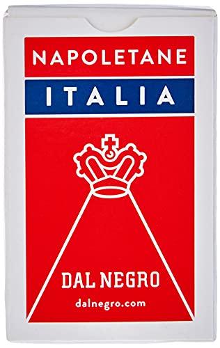 Dal Negro 10071 - Napoletane Italia Carte da Gioco Regionali, Astuccio Rosso