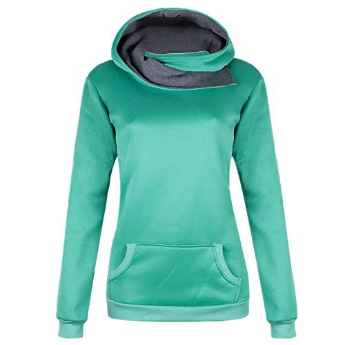 Sudadera larga con capucha para mujer