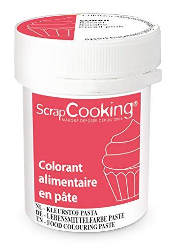 Scrapcooking Colorant en Pâte Corail 20 g