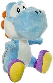 Little Buddy Toys Nintendo Official Super Mario Light Blue Yoshi Plush, 6