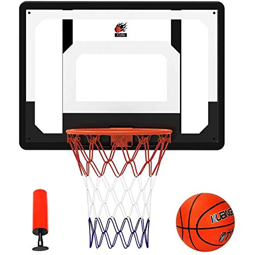 Cyfie 32' x 23' Over-The-Door Basketball Hoop Backboard, Basketball Hoops for Home/Office, Indoor Basketball Game for Kids Adults