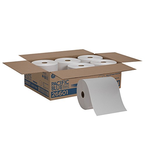 6 PC Pacific Blue Basic Recycled Paper Towel Rolls Pack