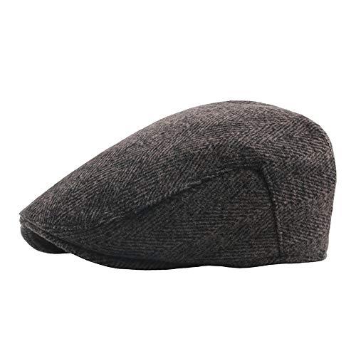 YUXINXIN 2019 Beret Cap Cotton Warm Heren Beret dames van middelbare leeftijd Herfst Winter Wollen Caps Forward oude hoed (Color : Deep coffee, Size : 56-58cm)