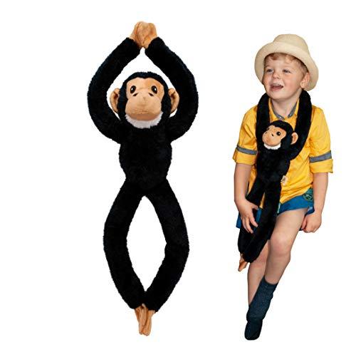 Árbol Huggers, chimpancé de EcoBuddiez Que cuelga el Juguete Suave (los 72cm) - Juguete Suave y mimoso de la Felpa de Deluxebase. Hecho de Las Botellas plásticas recicladas. Regalo mimoso par