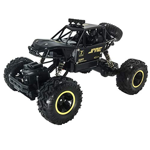Fine 1:16 Scale RC Car Off Road Vehicle 2.4G Radio Remote Control Car Racing,Off-Road Racing Vehicle Car Kids Toys Rechargeable Buggy Hobby Car (Black)