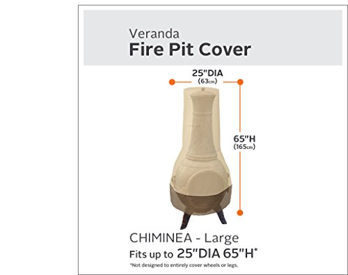 Classic Accessories Veranda Patio Chiminea Cover, Large