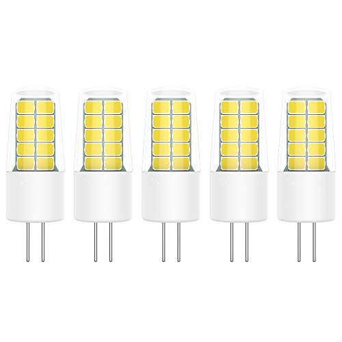 5X G4 Lámpara LED 3W Bombillas LED 20 SMD 2835LED Blanco Frío 6000K LED Bulb 300LM Equivalente a Halógenas 30W AC DC12V