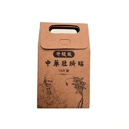 Knowooh Parche Adelgazante 10 Piezas Almohadillas Delgadas para Quemar Grasa Medicina China Botón de Ombligo Parches Finos Quema la Grasa Abdominal Fat Away Sticker