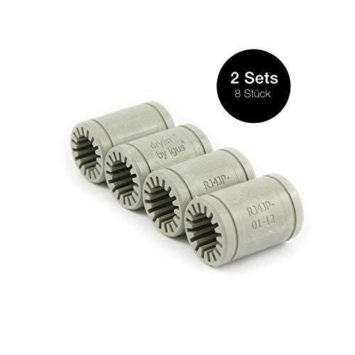 Igus ® Gleitlager 12mm - DryLin ® R - RJ4JP 01-12 (8 Stück)