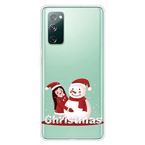 Unichthy - Cover protettiva per Samsung Galaxy A41, in morbido silicone, antiurto, motivo natalizio con cartoni animati, ultra sottile, trasparente in gel TPU per Samsung Galaxy A41 Pattern-29
