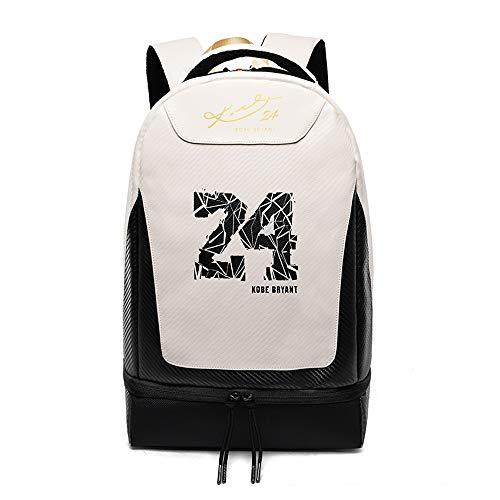 WNN-URG Estrella de la NBA Mochila-Negro Mamba Kobe No.24 - Viajes Escuela/Trabajo/Mochila -Alta Capacidad de Escolar Student Travel Mochila Bookbag Resistente de Agua Niño Niña Los niños (Memoria