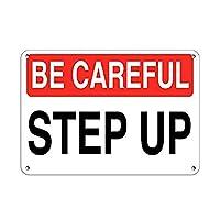 ハザードサインアップに注意してください 金属板ブリキ看板警告サイン注意サイン表示パネル情報サイン金属安全サイン