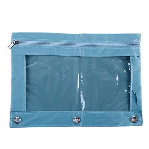 FSHB Bolsa de Archivos de Oficina Tamaño B5 Bolso de bolígrafo Oxford Bolsa de Documentos Carpeta de Archivos Papelería Organizador Suministros de Oficina Escolar, Azul Claro
