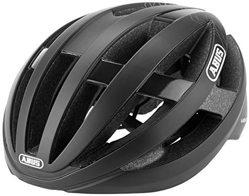 ABUS Viantor Rennradhelm - Sportlicher Fahrradhelm für Einsteiger - für Damen und Herren - 78154 - Schwarz Matt, Größe L