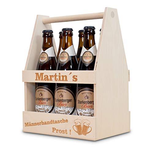 sagl.tirol 6er Bierträger mit persönlicher Gravur Männerhandtasche