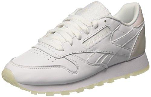 Reebok Classic Leather L Zapatillas, Mujer, Blanco (Pearl / White / White / Ice), 37.5 EU (4.5 UK)