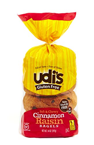 Udi's Gluten-Free Cinnamon Raisin Bagels, 1 pack - 4 bagels per pack