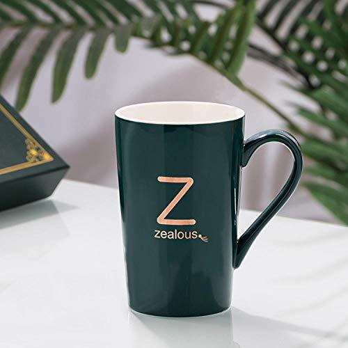 WCCCW Divertida Taza de café con una Muy Memorable - Taza de café de cerámica Personalidad Carta Taza-Z Verde