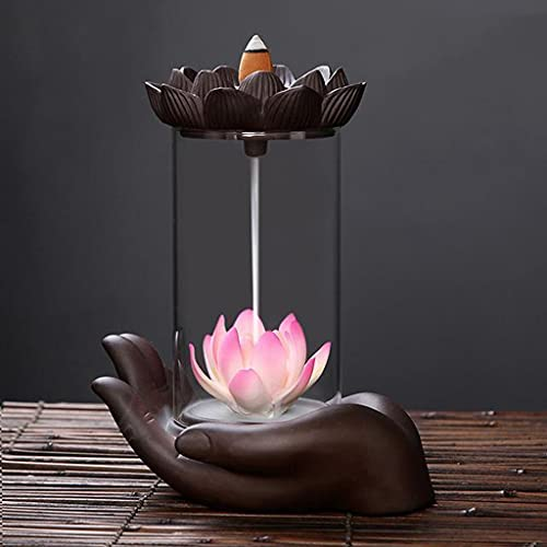 WPYYI Artesanía A Prueba de Viento Retroceso Lotus Incienso Ball Ball Inicio Oficina Té Casa Decorar Cerámica Incienso Fuente (Color : A)