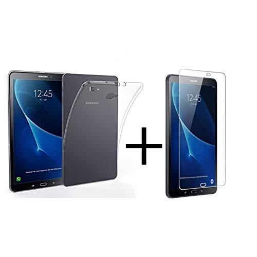 """MB Accesorios Pack Protector Cristal Templado Y Funda Transparente Silicona TPU Samsung Galaxy Tab A6 2016 T580 10.1"""" Tablet"""