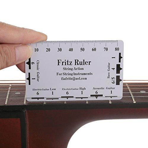 Regla de Guitarra,2Pcs Regla de Acción de Guitarra Regla de Cuerda de Guitarra Herramientas de Medición de Regla para Guitarra Bajo Accesorios para Instrumentos