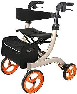 SONGYU Chariot Portable Pliant pour Chariot de magasinage pour Personnes âgées avec Frein à Main et Plaque de siège Marche...