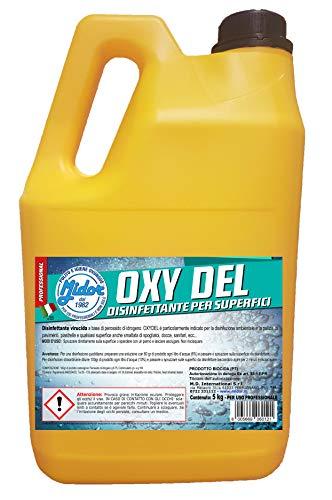 Smacchiatore all'ossigeno attivo igienizzante, disinfettante per superfici, rimuove le macchie e l'odore di sudore! OXY DEL 1x 5000ml - 5 kg, sostituisce la candeggina, ravviva il colore!