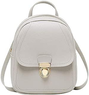 TOOGOO Small Backpack Girl Earphone Hole Backpack School Student Shoulder Bag Mobile Wallet Gray
