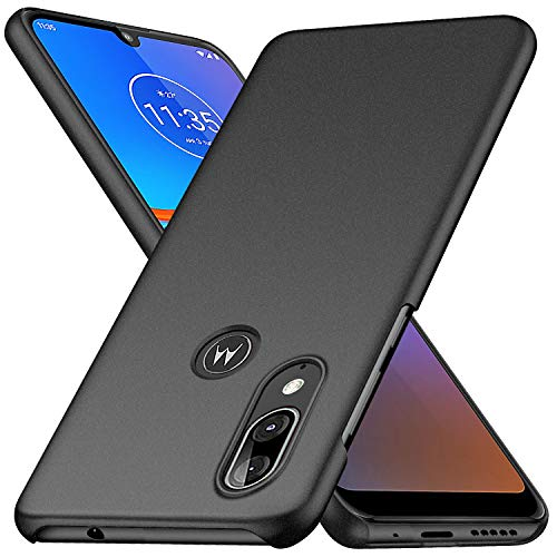 PICKQIU Hülle für Motorola Moto E6 Plus, Ultra Dünn Stoßfest Handy Case Cover, Anti-Scratch Cover Schutzhülle Schale Hardcase für Motorola Moto E6 Plus -Schwarz