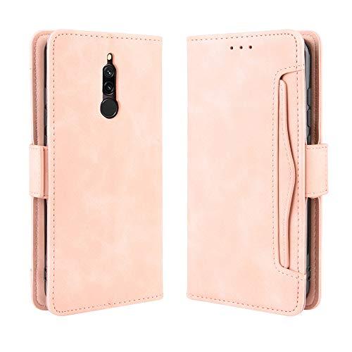 Stephanie Wilkerson Funda Compatible con Xiaomi Redmi 8 Case,Bolsillo Funda de Cuero Retro Multifuncional para Billetera [ Kickstand ] Funda de Billetera de Cuero de PU con Ranura para