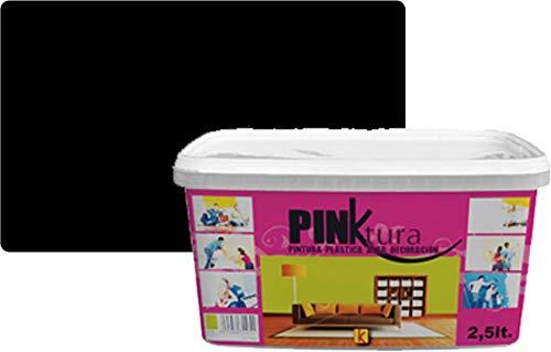 Pintura plástica Alta Decoración PINKTURA 2,5 litros (Negro)