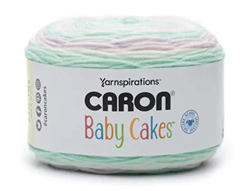 Caron Baby Cakes Self-Striping Yarn, 8.5 oz. / 240g, 560 Yards / 512 Meters (Spring Pansy 294955-55014)