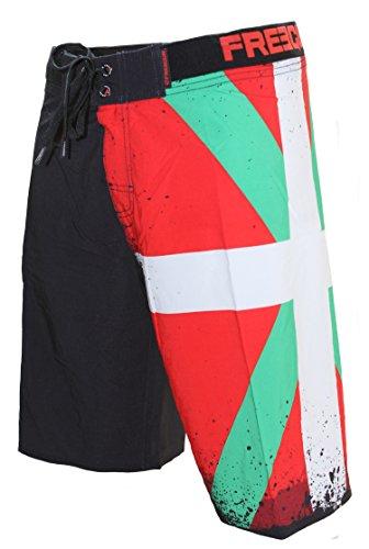 FREEGUN - Boardshort Homme- Pays Basque - Medium, Multicolore
