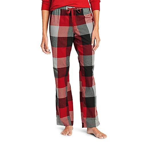 Eddie Bauer Women's Stine's Favorite Flannel Sleep Pants, Dk Red Tall L