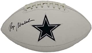 roger staubach signed football