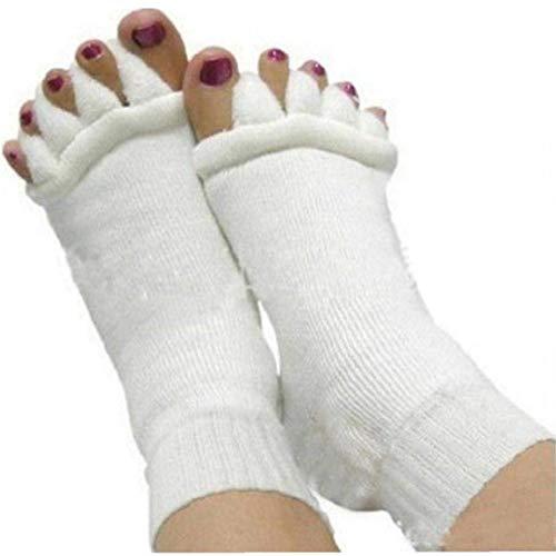 1 Paio Di Ginnastica Di Yoga Massaggio Sportivo Cinque Toe Socks Separatore Di Allineamento Del Piede Dolore Massaggi Calzino Per Foot Apparecchiature Per La Cura