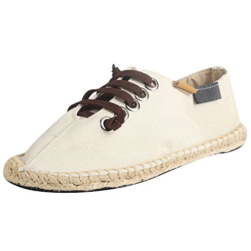 Kentti Canvas Zacht Lace Up Slip On Plat Espadrilles Heren