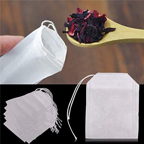 chengcunxing A Good Helper for Family Life, Creating 100Pcs / Lot Bolsitas de té perfumadas con Papel de Filtro de Sello, Tamaño: 5.5 x 7 cm