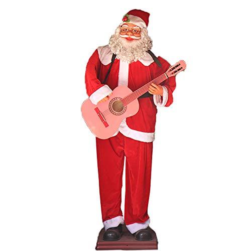 BZZBZZ Adornos navideños de Papá Noel, Adornos Decorativos eléctricos para Cantar y...