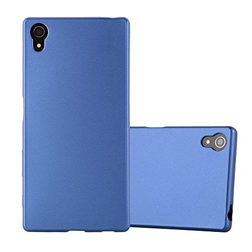 Cadorabo Coque pour Sony Xperia Z5 en Metallic Bleu - Housse Protection Souple en Silicone TPU avec Anti-Choc et Anti-Rayures - Ultra Slim Fin Gel Case Cover Bumper
