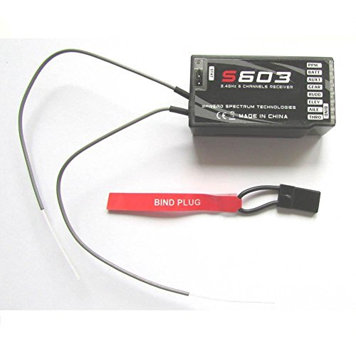 Favrison 2.4 GHz 6CH Empfänger Kanalempfänger S603 Digital Spread Modulation kompatibel JR Dx7 Dx6i Dx8 Dx9 Dx5e RC