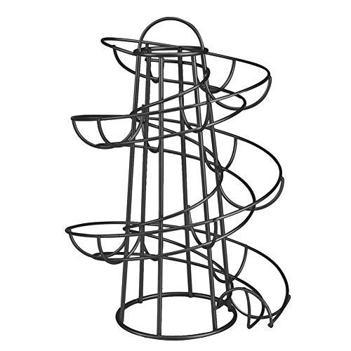 Abilieauty Huevo Soporte Moderno Spiraling Dispensador Estantería Almacenaje Guardar Espacio para Cocina - Negro