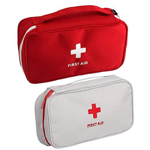 Zuzer Botiquín de Primeros Auxilios,2PCS Bolsa Médica Vacio Bolso de Primeros Auxilios Bolsa de Medicinas para Coche Camping Viajes