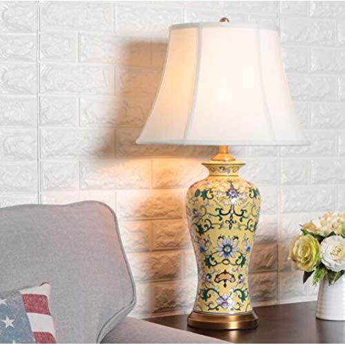 FAGavin Gelbe kreative Keramik-Tischlampe Schlafzimmer Nachttischlampe Modell Zimmer...
