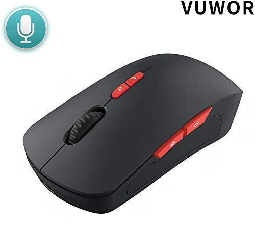 Vuwor V3Wireless Mobile Mouse Adjustable Voice Typing Voice Command Long Range Wireless Mouse with Notebook Tablet