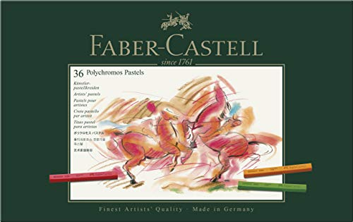 Faber-Castell 128536 - Estuche de cartón con 36 tizas pastel polychromos, multicolor