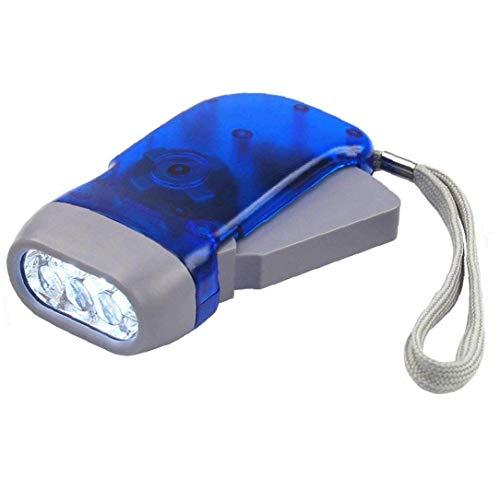 Handpresse Taschenlampe, Mini Hand Press Taschenlampe - 3 Führte Dynamo-Taschenlampe Für Outdoor Sports Camping Blau